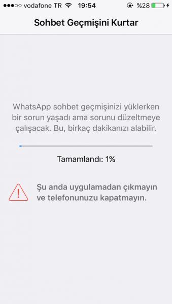 whatsapp sohbet kurtarma